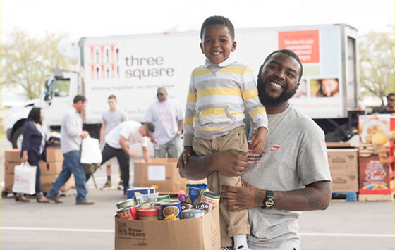 Three Square Food Bank_Father and Son