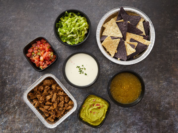 ALT TEXT: Land O'Lakes Foodservice   Nacho Meal Kit components