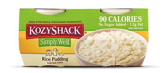 Low Calorie Rice Pudding Kozy Shack Simply Well Pudding