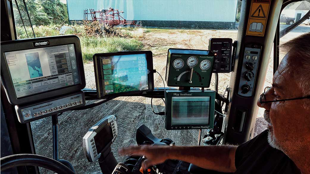 The Cab Of A Tractor With Technology