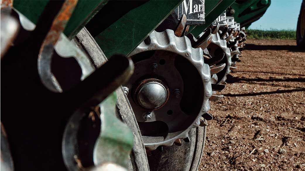A Closeup Of A Farm Implement