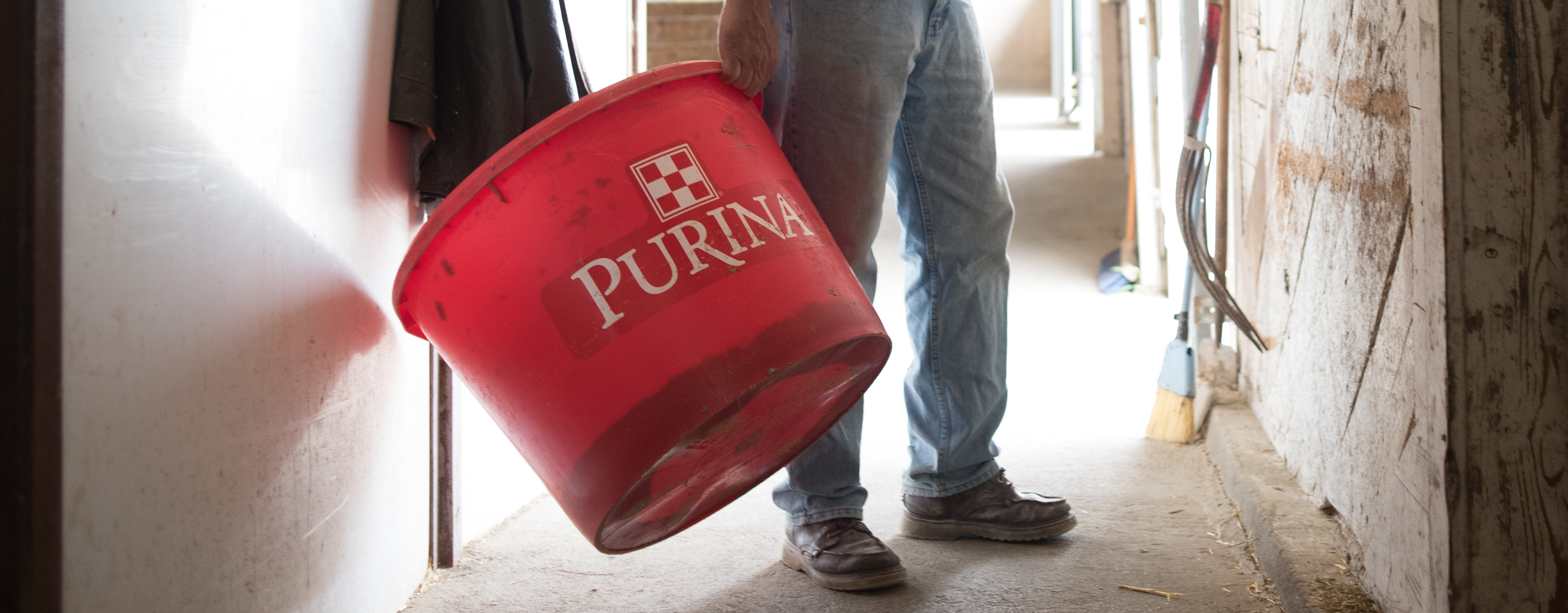 A Purina Feed Tub