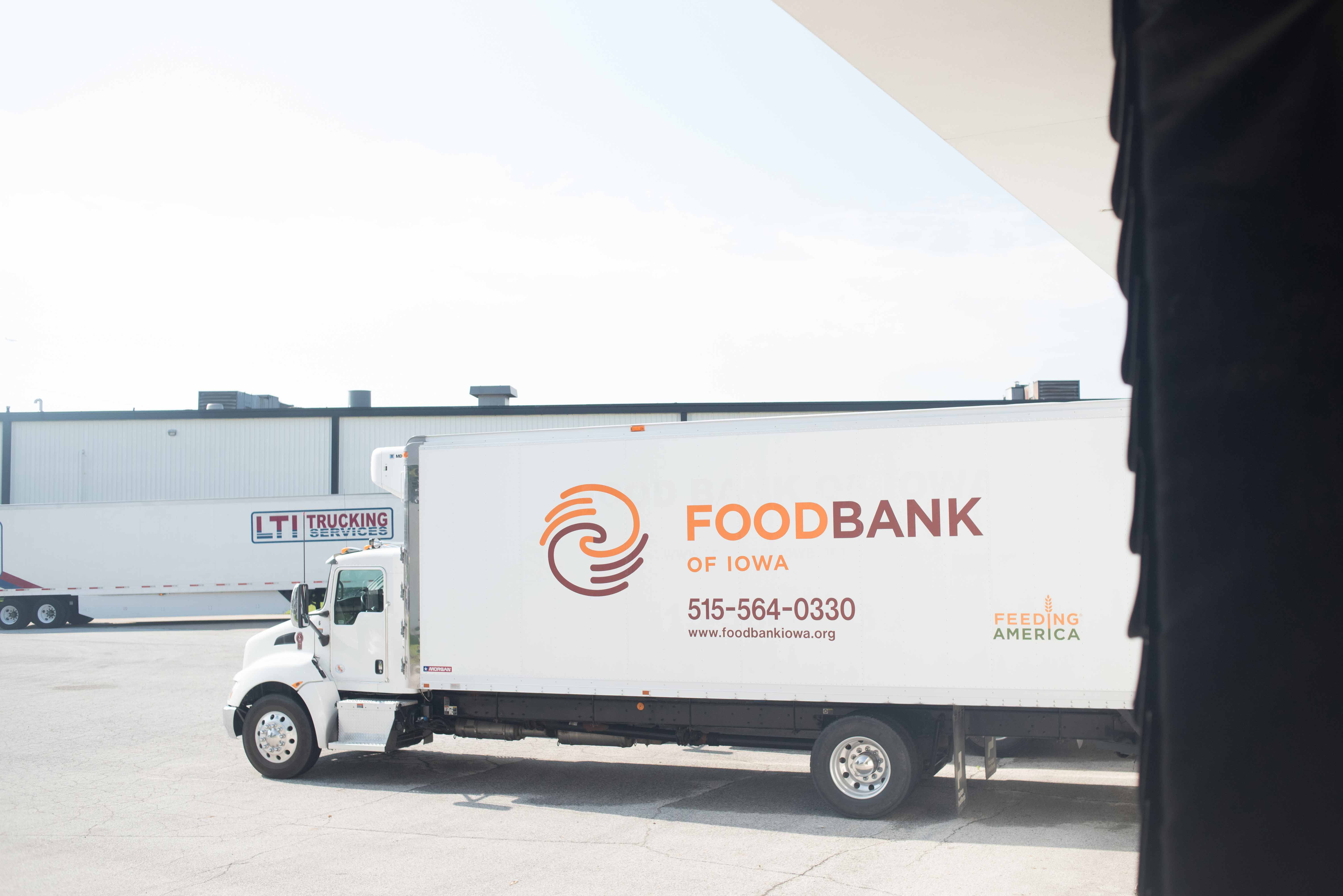 A Truck At A Food Bank Distribution Center