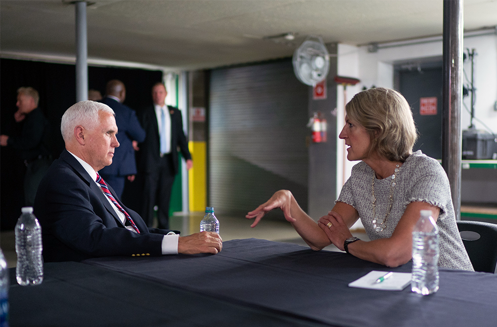 Vice President Mike Pence Talking With Land O