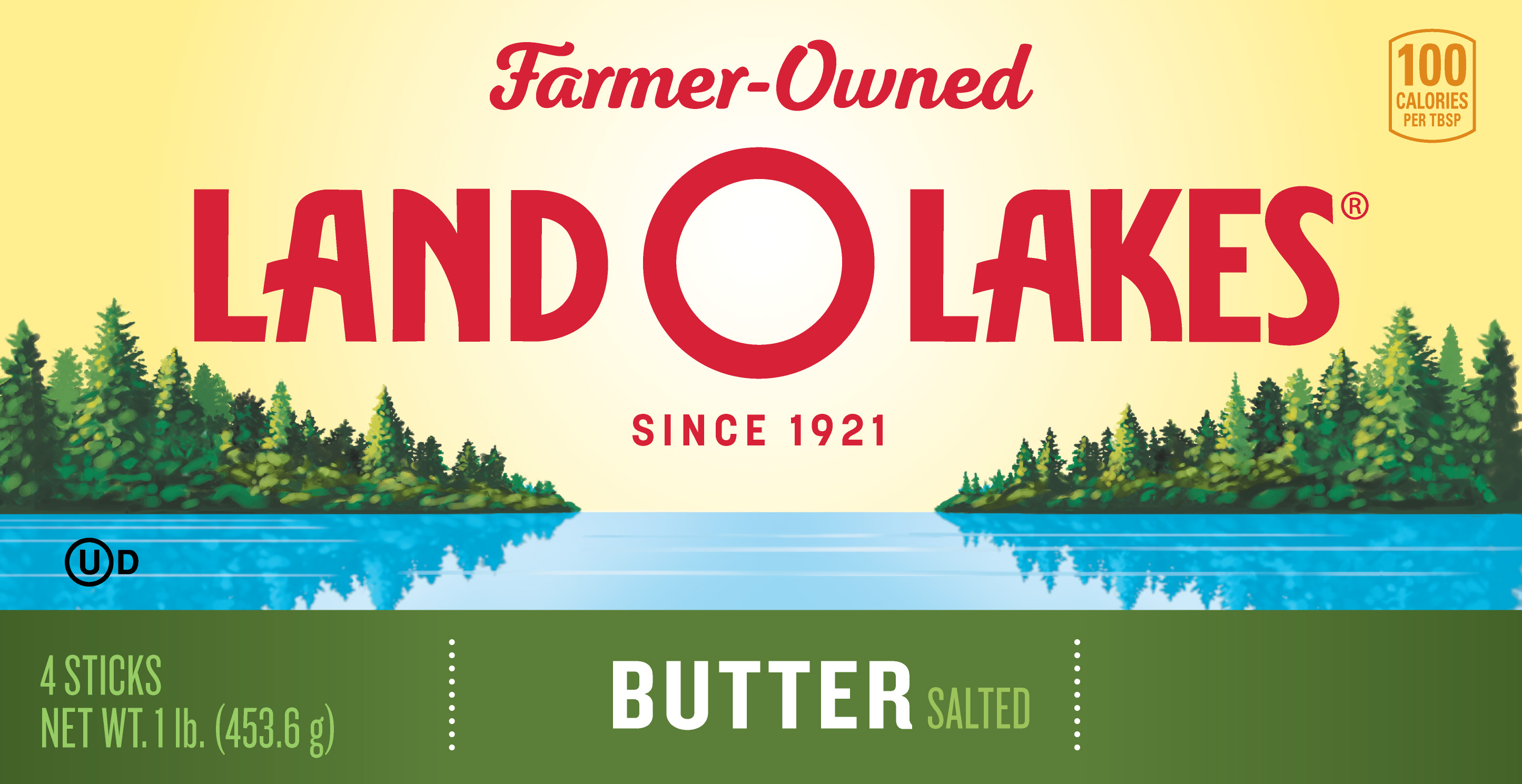 New Land O'Lakes Butter Packaging Front Panel