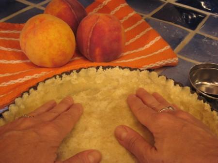pressing-crust-in