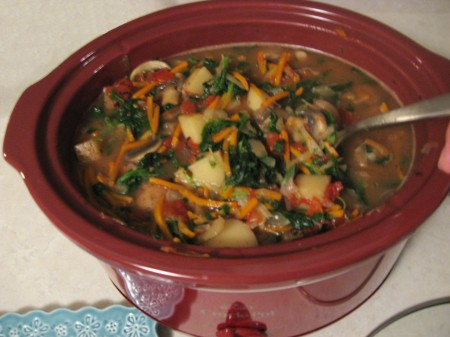 Spinach mixed in