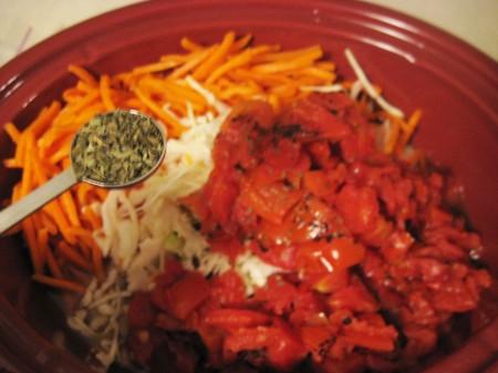 Combine vegetables in crock-pot