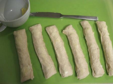 Butter the dough