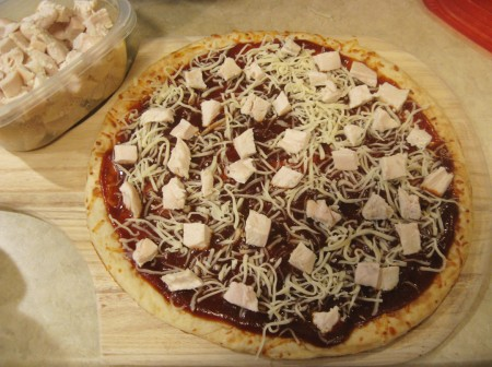 layer cheese and chicken