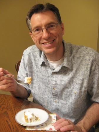 Dad's loving the rhubarb!