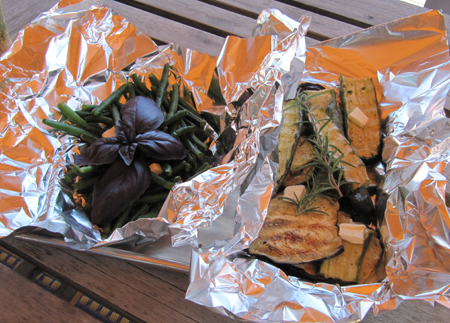 foil packets of veggies
