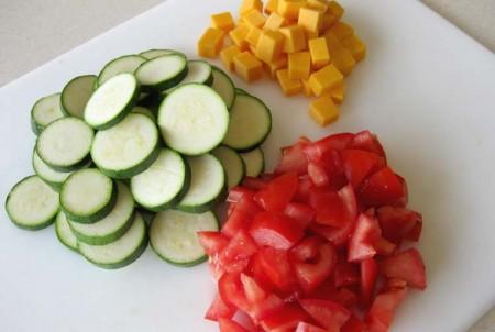 Salad Ingredients Prepped