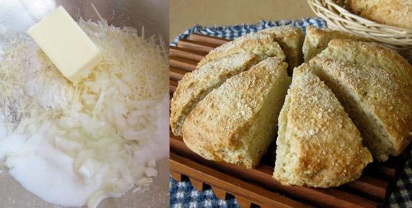Hearty Parmesan Soda Bread