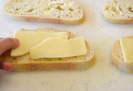 Add Cheese to Bread
