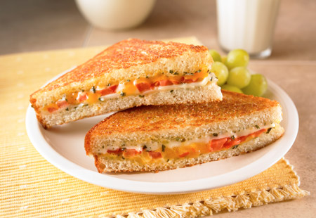 herbed grilled cheese sandwiches