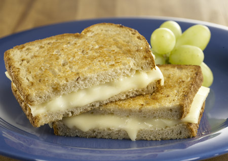 hearty grilled cheese sandwich