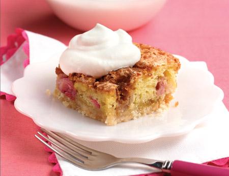 rhubarb cookie cake