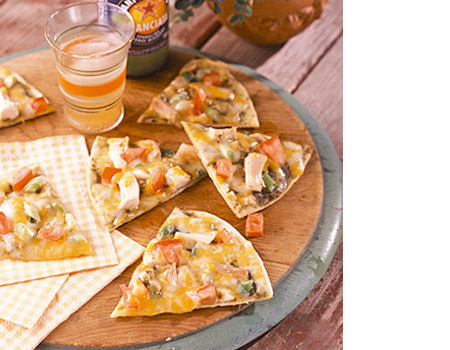 grilled cracker crust pizzas