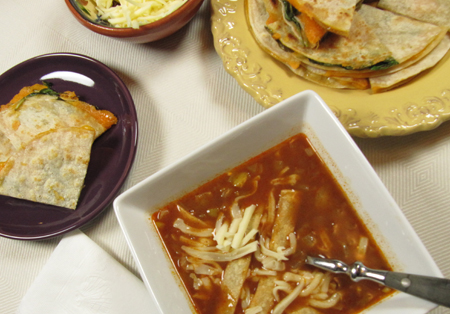 tortilla soup, quick, easy