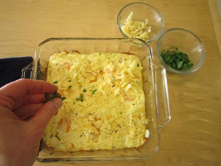sprinkle, cheese, parsley