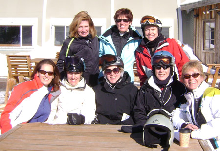 skiing, women, ski trip