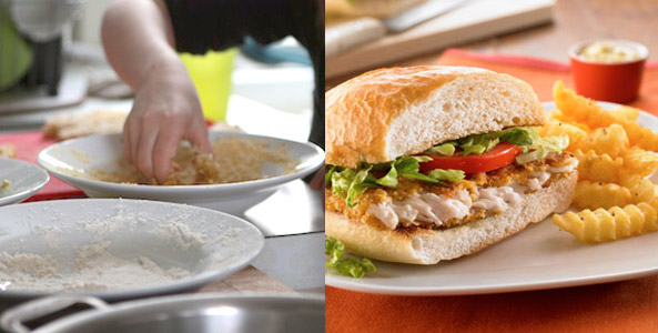 fish, coating, sandwiches