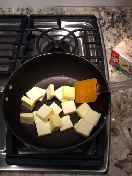 butter, saucepan, stove