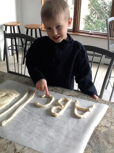breadstick, dough, kid
