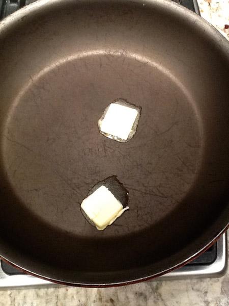 butter, skillet, melt