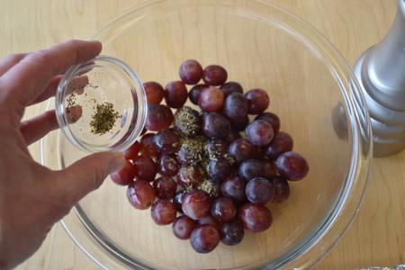 butter, grapes, seasoning