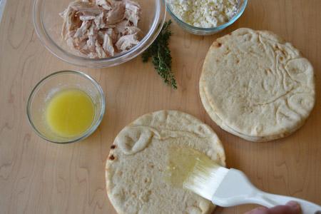 brush, butter, flatbread
