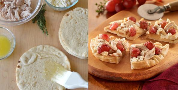 butter, flatbread, pizza