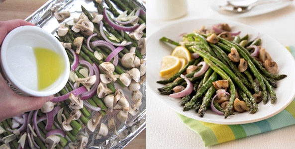 asparagus, butter, chop