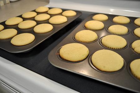 baked, cupcakes, vanilla
