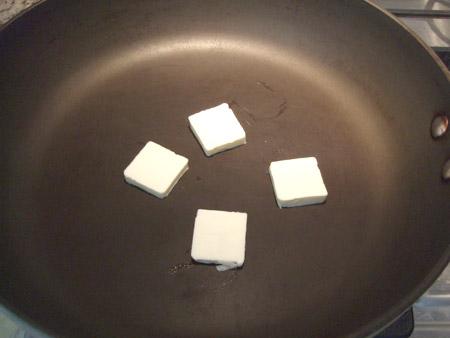 skillet, butter, melt