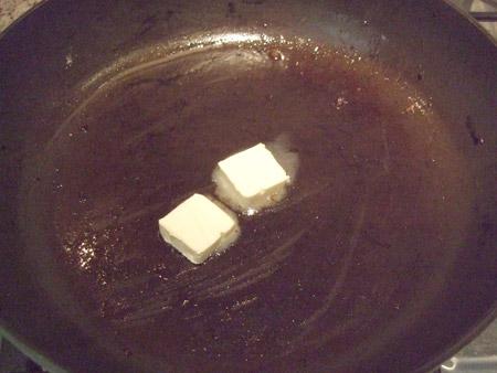 butter, melt, skillet