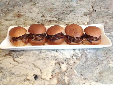 burger, slider, onions