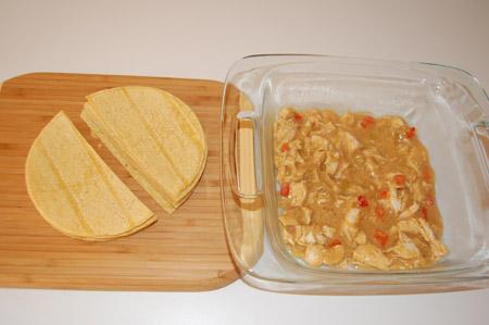 chicken, enchilada, layering