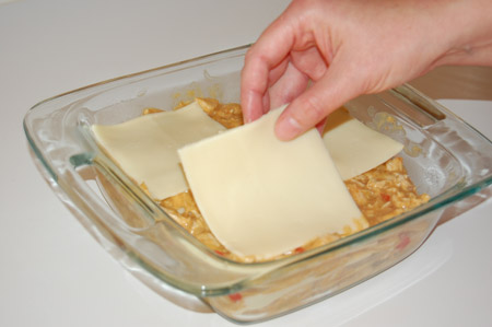 casserole, enchilada, layering
