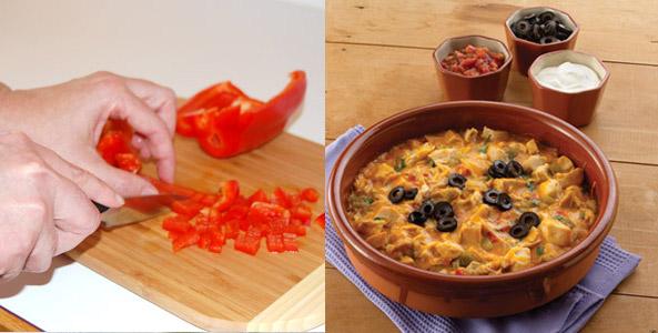 red pepper, cutting, enchilada