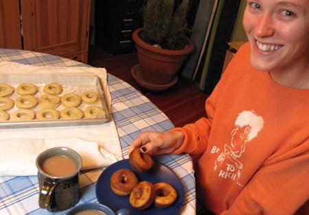doughnut, taste, girl