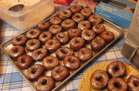 donuts, doughnuts, fried