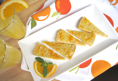 orange, cardamom, shortbread