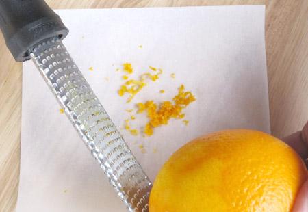 orange, peel, grate