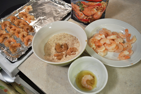 shrimp, coated, spice