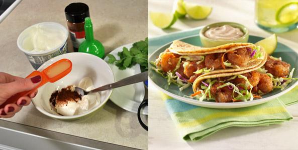 taco, ingredients, shrimp