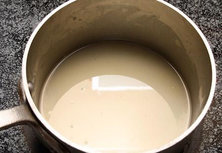 tart, filling, saucepan