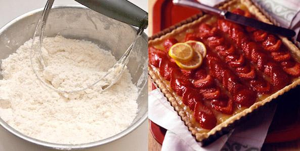 butter, flour, tart