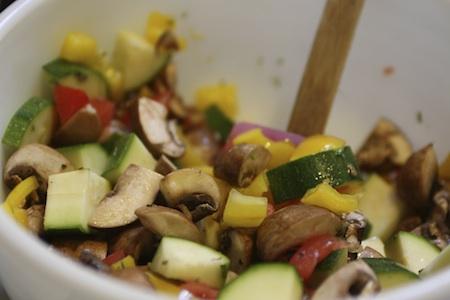 vegetables, marinade, bowl
